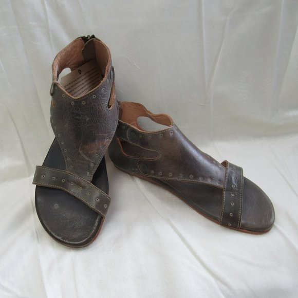 NIB Bed Stu Women/'s Soto G Leather Sandals in Taupe Mason Leather Size 9.5